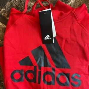 Men's Adidas Red Pull Over Hoodie